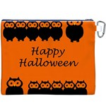 Happy Halloween - owls Canvas Cosmetic Bag (XXXL) Back
