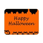 Happy Halloween - owls Double Sided Flano Blanket (Mini)  35 x27 Blanket Back