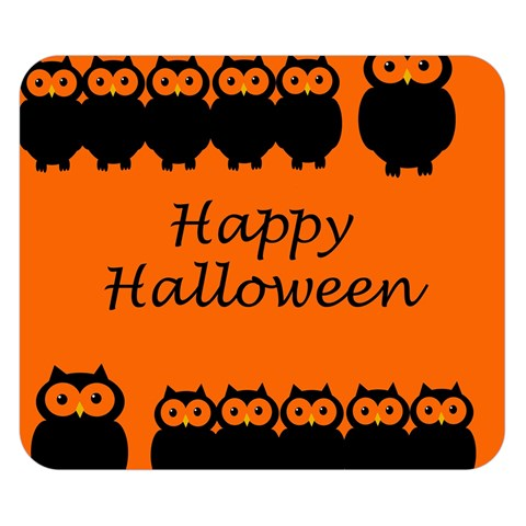 Happy Halloween - owls Double Sided Flano Blanket (Small)