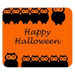 Happy Halloween - owls Double Sided Flano Blanket (Small)  50 x40 Blanket Back