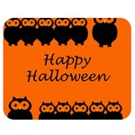 Happy Halloween - owls Double Sided Flano Blanket (Medium)  60 x50 Blanket Front
