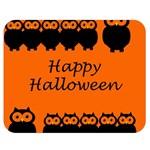 Happy Halloween - owls Double Sided Flano Blanket (Medium)  60 x50 Blanket Back