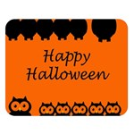 Happy Halloween - owls Double Sided Flano Blanket (Large)  80 x60 Blanket Front