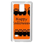 Happy Halloween - owls Samsung Galaxy Note 4 Case (White) Front