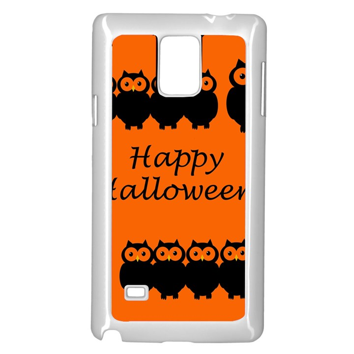 Happy Halloween - owls Samsung Galaxy Note 4 Case (White)
