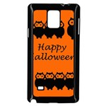 Happy Halloween - owls Samsung Galaxy Note 4 Case (Black) Front