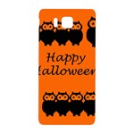 Happy Halloween - owls Samsung Galaxy Alpha Hardshell Back Case Front