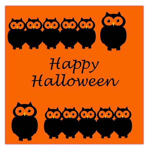 Happy Halloween - owls Large Satin Scarf (Square)