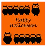 Happy Halloween - owls Large Satin Scarf (Square) Front