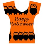 Happy Halloween - owls Women s V-Neck Cap Sleeve Top Front