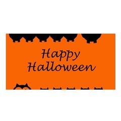 Happy Halloween   Owls Satin Shawl
