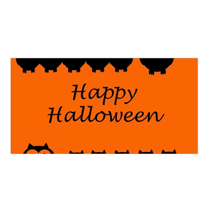 Happy Halloween - owls Satin Shawl