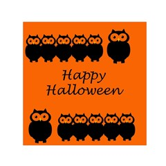Happy Halloween   Owls Small Satin Scarf (square)