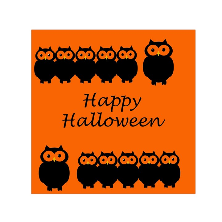 Happy Halloween - owls Small Satin Scarf (Square)