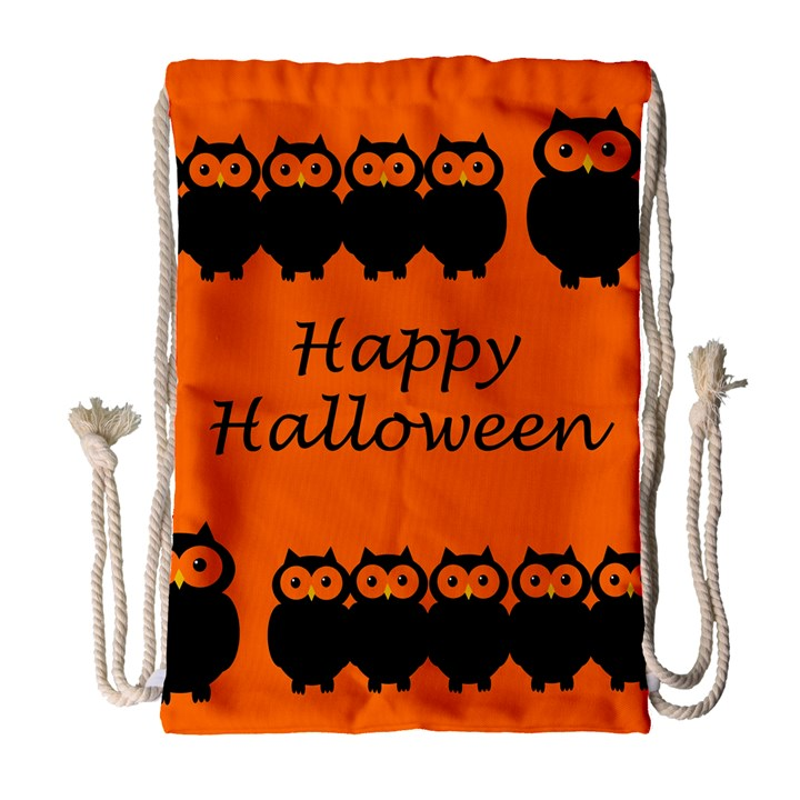 Happy Halloween - owls Drawstring Bag (Large)