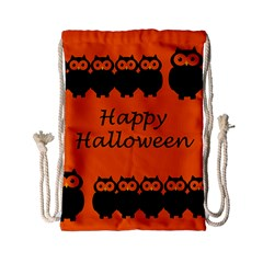 Happy Halloween - owls Drawstring Bag (Small)