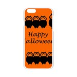 Happy Halloween - owls Apple Seamless iPhone 6/6S Case (Transparent) Front