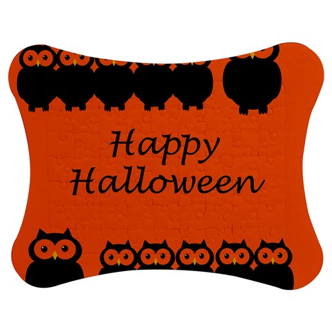 Happy Halloween - owls Jigsaw Puzzle Photo Stand (Bow)
