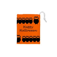 Happy Halloween - owls Drawstring Pouches (XS)