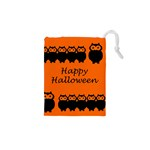 Happy Halloween - owls Drawstring Pouches (XS)  Front