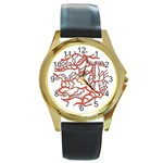 Twenty One Pilots Tear In My Heart Soysauce Remix Round Gold Metal Watch Front