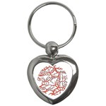 Twenty One Pilots Tear In My Heart Soysauce Remix Key Chains (Heart)  Front