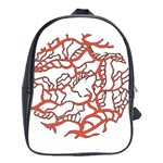 Twenty One Pilots Tear In My Heart Soysauce Remix School Bags(Large)  Front