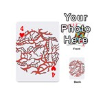 Twenty One Pilots Tear In My Heart Soysauce Remix Playing Cards 54 (Mini)  Front - Heart4