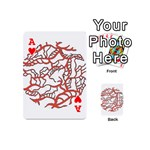 Twenty One Pilots Tear In My Heart Soysauce Remix Playing Cards 54 (Mini)  Front - HeartA