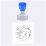 Twenty One Pilots Tear In My Heart Soysauce Remix Rubber Round Stamps (Medium) 1.5 x1.5  Stamp