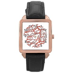 Twenty One Pilots Tear In My Heart Soysauce Remix Rose Gold Leather Watch