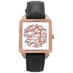 Twenty One Pilots Tear In My Heart Soysauce Remix Rose Gold Leather Watch  Front
