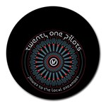 Twenty One Pilots Round Mousepads Front