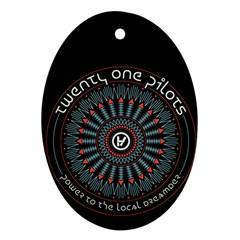 Twenty One Pilots Ornament (Oval)