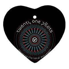 Twenty One Pilots Ornament (Heart)