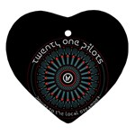 Twenty One Pilots Ornament (Heart)  Front