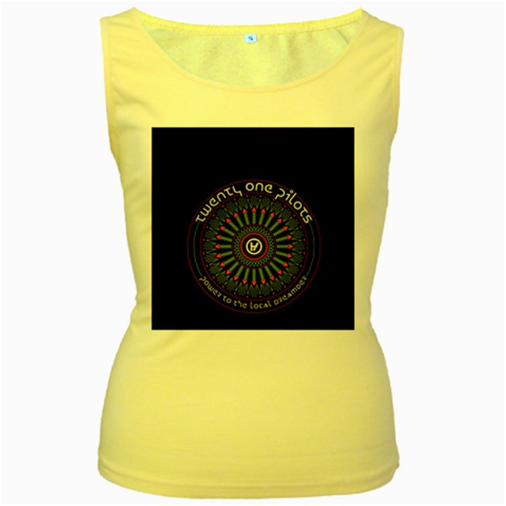 Twenty One Pilots Women s Yellow Tank Top