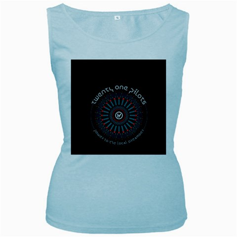 Twenty One Pilots Women s Baby Blue Tank Top