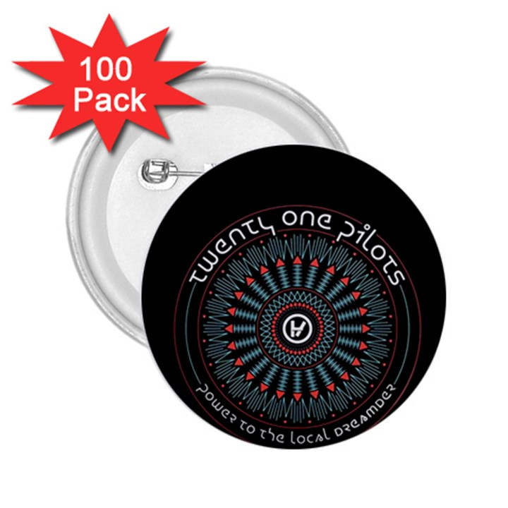 Twenty One Pilots 2.25  Buttons (100 pack)