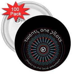 Twenty One Pilots 3  Buttons (100 pack)