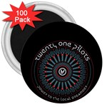 Twenty One Pilots 3  Magnets (100 pack) Front