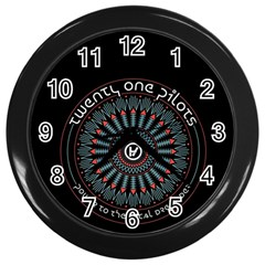 Twenty One Pilots Wall Clocks (Black)