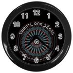 Twenty One Pilots Wall Clocks (Black) Front