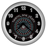 Twenty One Pilots Wall Clocks (Silver)  Front