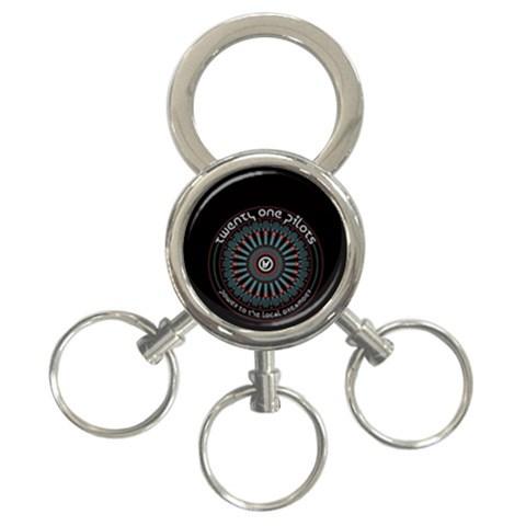 Twenty One Pilots 3-Ring Key Chains