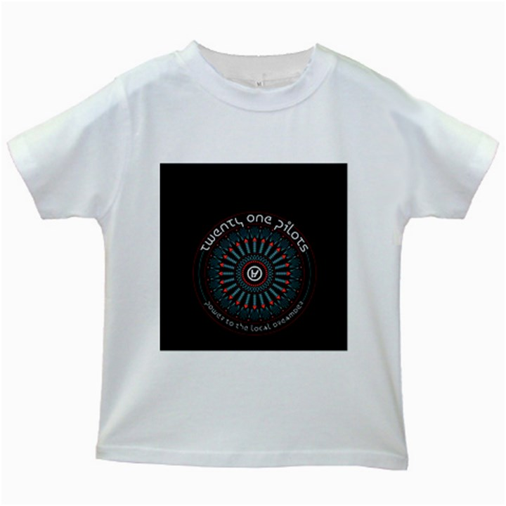 Twenty One Pilots Kids White T-Shirts