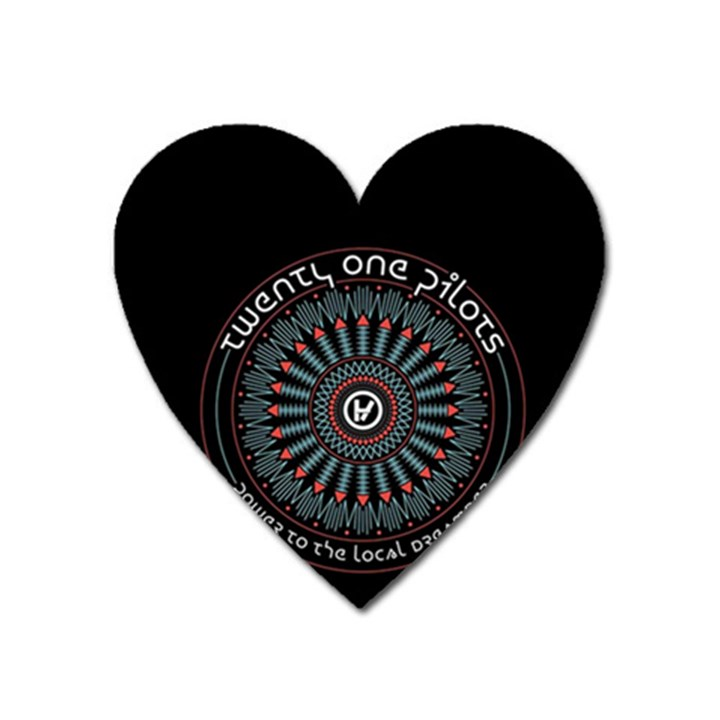 Twenty One Pilots Heart Magnet