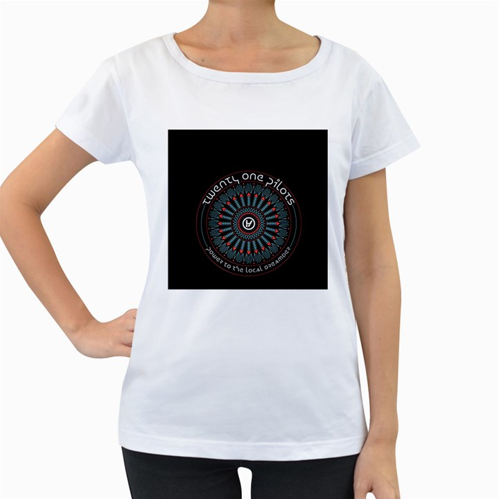 Twenty One Pilots Women s Loose-Fit T-Shirt (White)