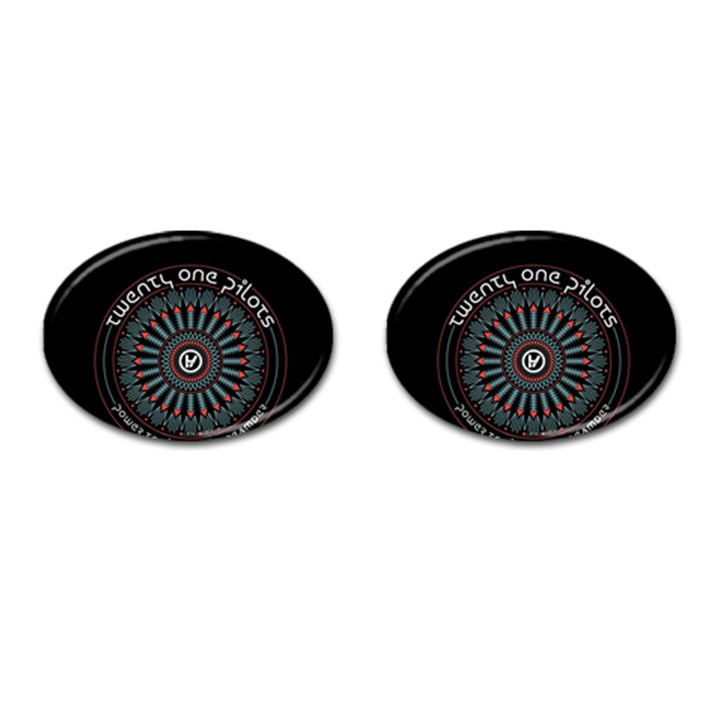 Twenty One Pilots Cufflinks (Oval)