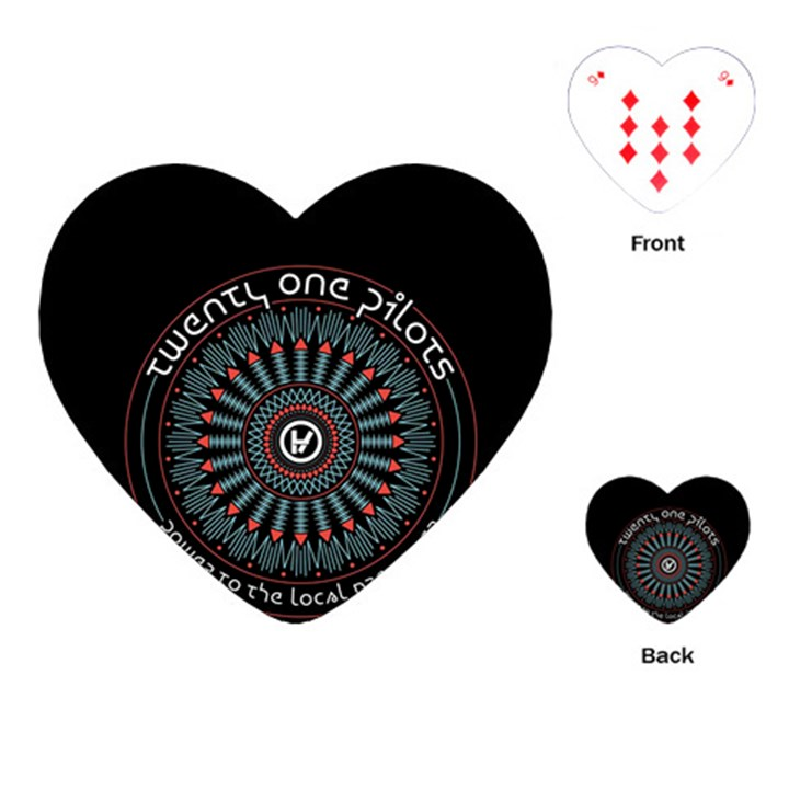 Twenty One Pilots Playing Cards (Heart)